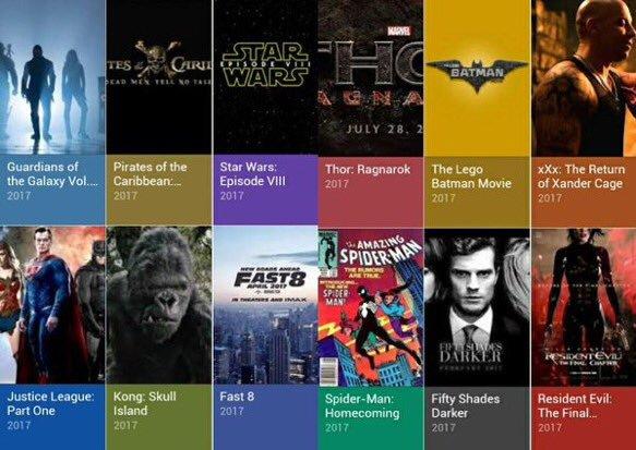 Filmele lui 2017