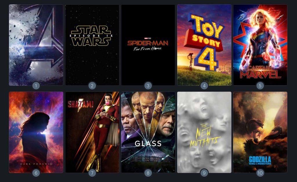 Filmele lui 2019